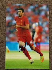 MARKO GRUJIC (Liverpool ) FOOTBALLER SIGNED 8 x 12 PHOTO.