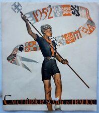 RARE EO SCOUTISME + PIERRE JOUBERT CALENDRIER SCOUT DE FRANCE POUR 1952