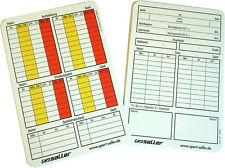 50 Saller my Referee Spielnotizkarten Schiedsrichter Schiri Notiz Karten Fußball