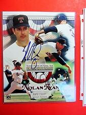NOLAN RYAN 1999 HOF AUTOGRAPHED PHOTO LIMITED ED. BASEBALL COA HALL FAME RARE EX