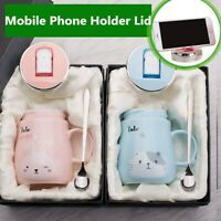 Mobile Phone Holder Animal Ceramic Mug Coffee Milk Tea Cup Cute Cartoon Mugs
