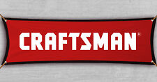 Craftsman Banner Flag American Tools Mechanic Shop Garage Red Cave ( 18x59  in)