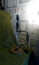 STEAMPUNK UPCYCLED VINTAGE HANDBRACE LAMP CONVERSION