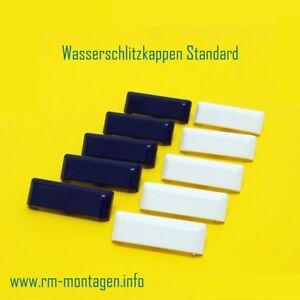 Abdeckkappen | Wasserschlitzkappen Standard eckig für Kunststoff-Fenster