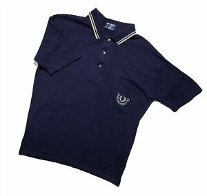 Men`s Vintahe Fred Perry polo Blue Size M made in England