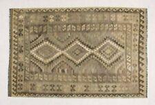 9'7 x 6'4 Handwoven Afghan Wool Kilim Area Rug Neutral Color Kelim Carpet #6135