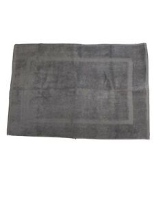 Set of 2 Gray Bath Mat Towel Style Cotton 21 x 34 Bathroom Accessories