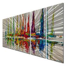 Metal Wall Art October Sail by Osnat 5 Piece Set Abstract Nautical Decor