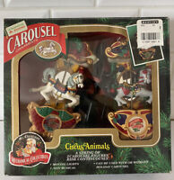 Vintage Package of 2 Mr. Christmas Holiday Carousel Circus Animals Horse tested