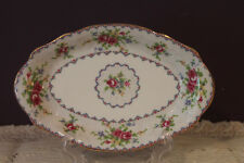 ROYAL ALBERT PETIT POINT TRAY FOR CREAM AND SUGAR
