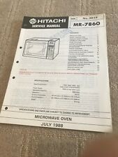 Hitachi MR-7860 service manual For Microwave Oven