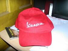 Vespa logo baseball style cap in red
