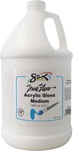 scsp 247313 sax true flow non toxic acrylic medium 1 gal bottle gloss