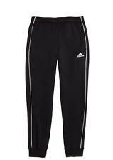 NWT Adidas Big Boys Core 18 Training Sweatpants Black Stripe Size Large Youth