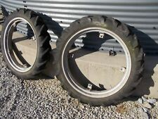 "Allis Chalmers G tractor 7.2 x 30 30"" Good Year tread tires tire & AC rims rim"