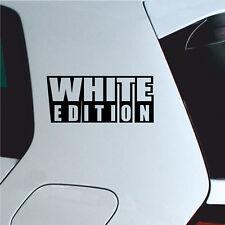 White Edition Aufkleber Tuning sticker Autoaufkleber