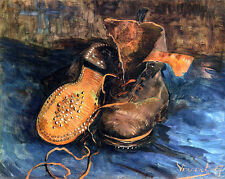 "Vincent van Gogh ""A Pair of Shoes"" MUSEUM QUALITY GICLEE 16.5X11.7 CANVAS PRINT"