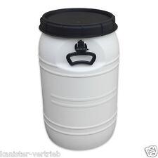 70 Liter weiß Kunststofffass Deckelfass Drehdeckelfass Futtertonne NEUWARE!