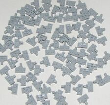 Lego Lot of 100 New Light Bluish Gray Hinge Plate 1 x 2 Locking with 1 Finger