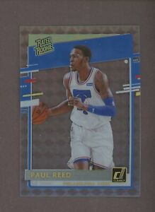 2020-21 Clearly Donruss #59 Paul Reed Rated Rookie RC Mosaic Gold Parallel