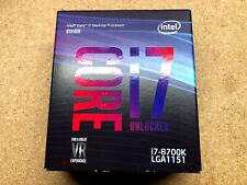 Intel Core i7-8700K 3.7 GHz 6-Core LGA 1151 CPU Turbo 4.7GHz Retail