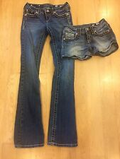 Miss me jeans and shorts size 26 Lot Set WOW