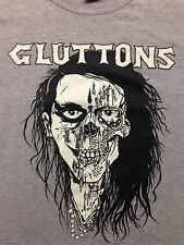Used Gluttons Band Punk Skateboard Rock Hardcore Skater Surf Xl T Shirt