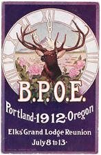 Postcard B.P.O.E. Elk's Grand Lodge Reunion in Portland, Oregon~99704