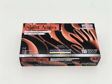 "*MEDIUM* SIZE - AUTHENTIC ""NIGHT ANGEL"" ADENNA BLACK NITRILE GLOVES (BOX of 100)"