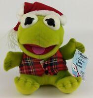 Baby Kermit the Frog 1988 Christmas Plush Jim Henson Muppets McDonald's