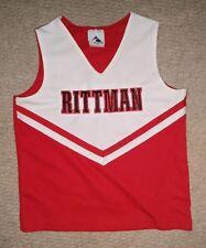 Authentic Rittman Ohio Red and White Cheerleading Uniform Cheer Shirt Shell Top