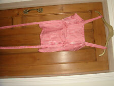 french connection bnwt pure silk stripe top size 14 peach pink stunning