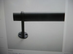 "West Elm Simple Metal  Rod Drapery Curtain  48-88"" Antique Bronze"