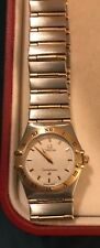 ladies omega gold and stainless steel constellation watch. V good condition