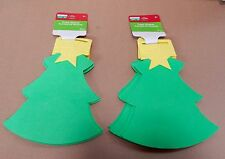"""Creatology Holiday Foam Shapes 8pc 8"""" x 6"""" Michaels Stores 3+ Christmas Tree 93P"""