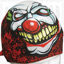 Evil Clown Do Black Gray Cap New Head Wrap Du Rag Biker Doo Skull Hat Bandana