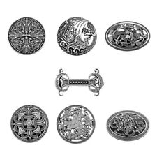 Corsage Broaches Pins Celtic Jewelry Viking Carved Ethnic Brooch Totem Badge
