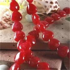 12mm Red Ruby Gemstone Heart Loose Beads 15''