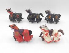 Papo Ritter Pferde / Turnierpferde (Drache) / knight horses - Spielfiguren