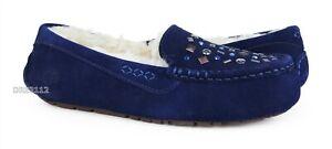 UGG Ansley Stud II Medallion Suede Fur Slippers Womens Size 10 *NIB*