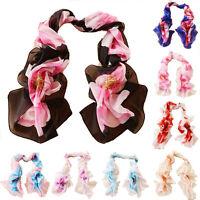 Fashion Hot Flowers Girls Women Long Soft Wrap Lady Shawl Silk Chiffon Scarf H58