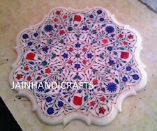 """30"""" MARBLE  CORNER CENTER  DINING COFFEE TABLE TOP MOSAIC INLAY MALACHITE qw2"""