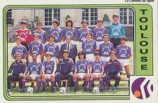 N°324 EQUIPE TEAM TOULOUSE.FC TFC VIGNETTE PANINI FOOTBALL 86 STICKER 1986