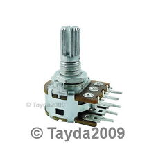 2 x 100K OHM Logarithmic Dual Rotary Taper Potentiometer A100K 100KA POT ALPHA