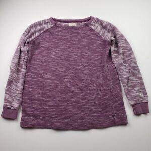 Women's CHAMPION Crew Neck Color Block Sweatshirt Medium M Purple