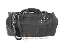 New Genuine 100%Leather Outdoor Travel Carryon Overnight Duffel Gym Bag Handmade