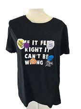 ZARA Trafaluc Women Text Printed T-shirt with badges, Black, XL