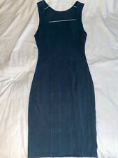 Helmet Lang Turquoise Green Stretch Party Dress Size M 10 UK