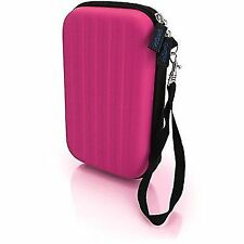 iGadgitz Pink Eva Hard Travel Carry Case Cover for Nintendo 3ds 2015 With CL