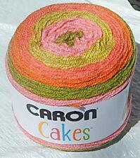 "Caron Cakes in Colorful ""STRAWBERRY KIWI"" - New & Smoke Free Home, Worsted Yarn"